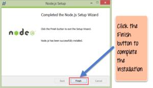 Install node.js setup