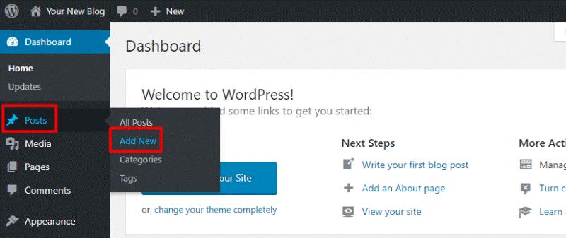 how to create wordpress blog