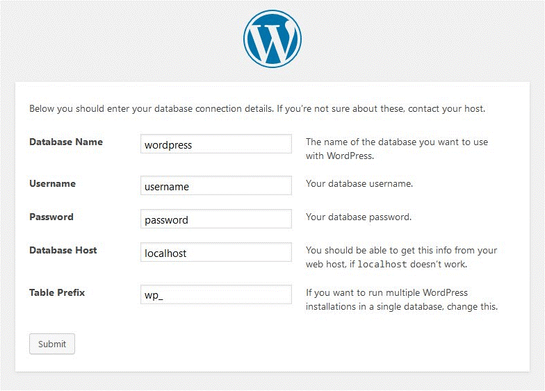 install wordpress for create first wp website