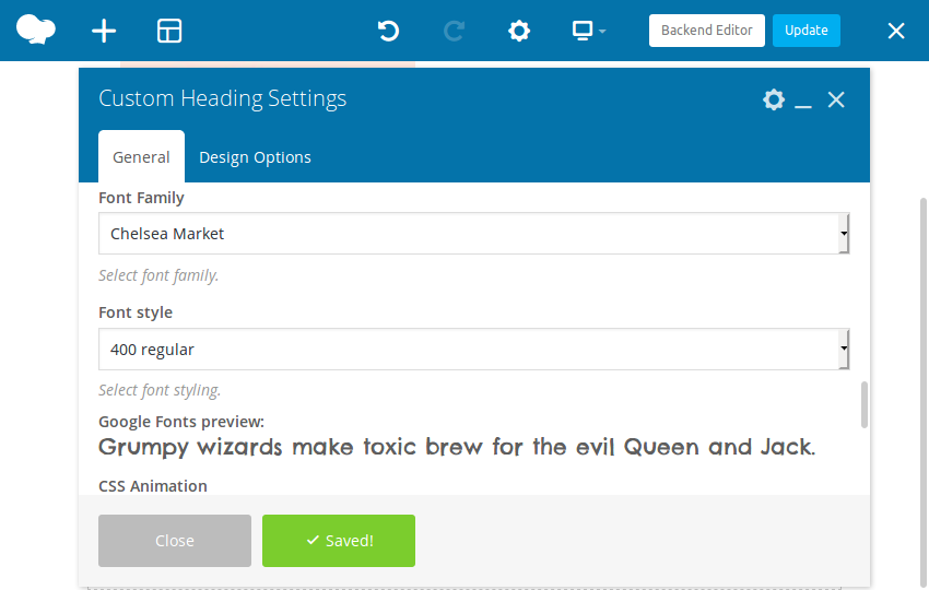 Make a Hero section using wpbakery 5